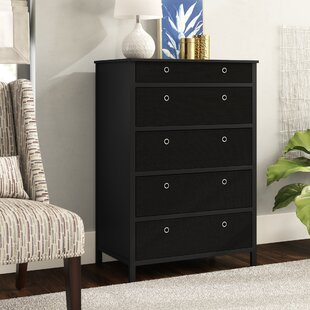 Fogg Fold-able 5 Drawers Tall Chest by Ebern Designs