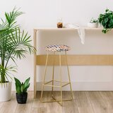 Ninola Design Summer Gingham Squares 30 Bar Stool by East Urban Home