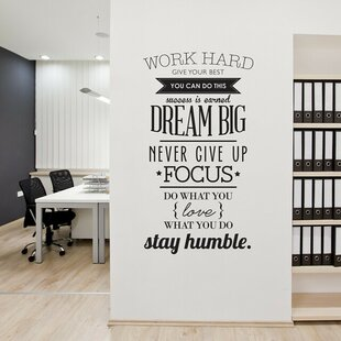 Wall decals youll love wayfair work hard wall decal by urban walls gumiabroncs Images