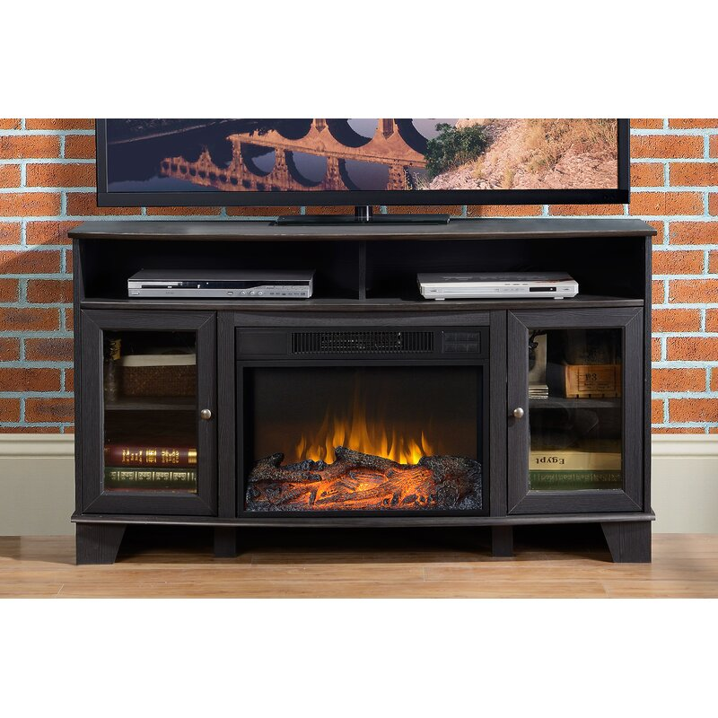 Homestar Wilson Media Tv Stand For Tvs Up To 58 With Fireplace