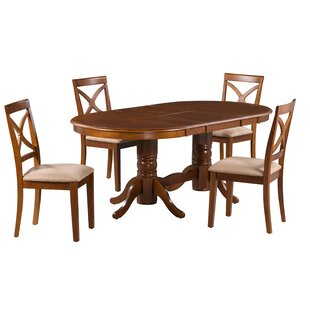 Sydney 5 Piece Extendable Solid Wood Dining Set Alcott Hill