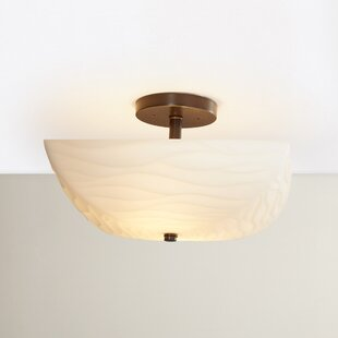 Salaam 2-Light Semi Flush Mount by World Menagerie