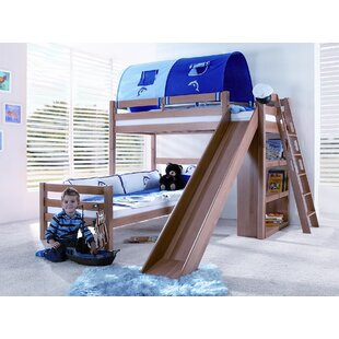 Mauricio European Single L-Shaped Bed With Bookcase And With Tunnel By Zoomie Kids