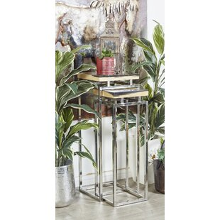 Waquoit Contemporary 2 Piece Nesting Table