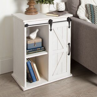 Gracie Oaks Banbury Wooden Freestanding End Table with Storage