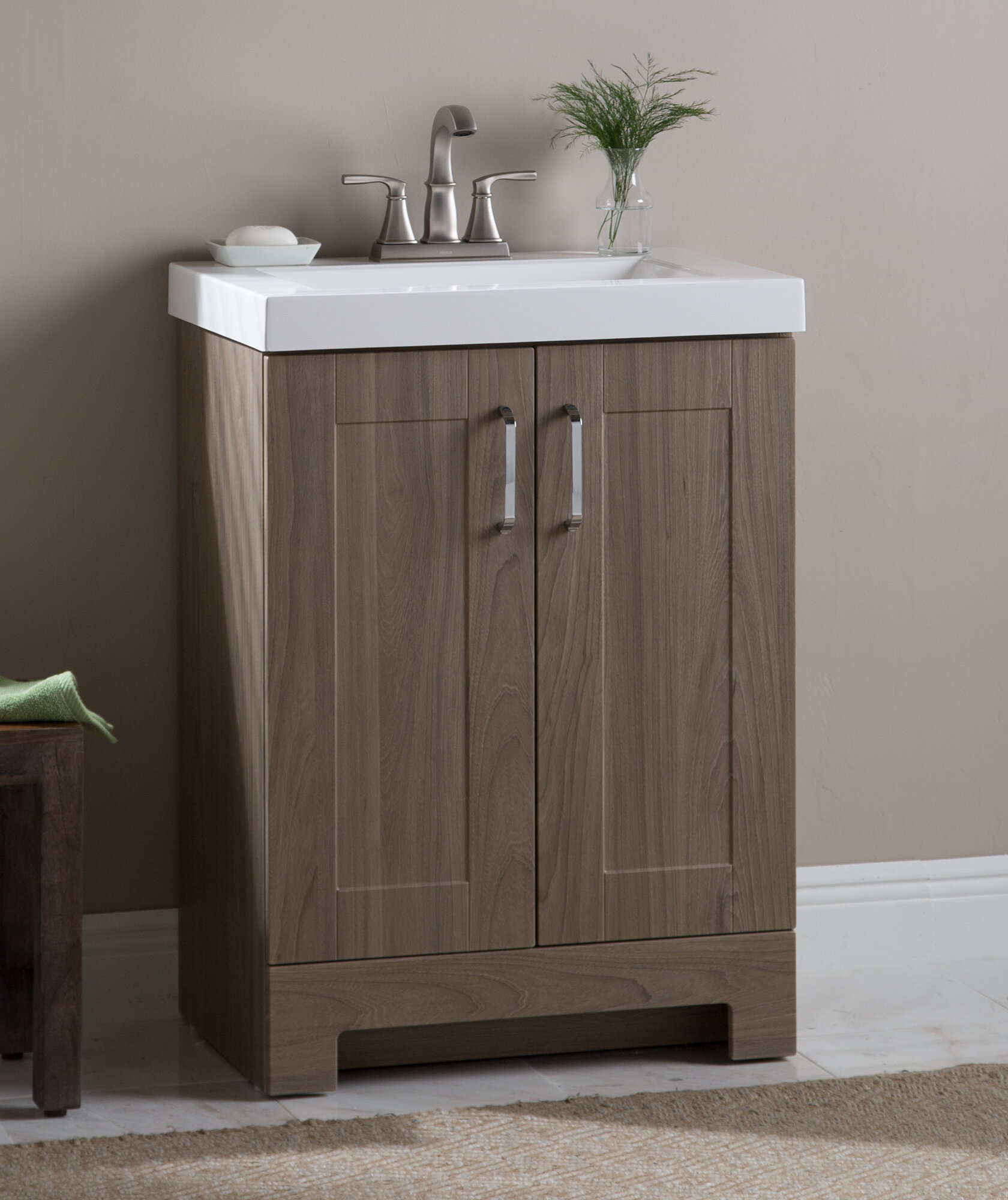 Zipcode Design Nels 25 Single Bathroom Vanity Set Reviews Wayfair