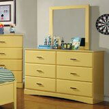 Segars 6 Drawer Bachelor's Chest with Mirror by Harriet Bee