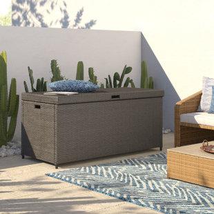 Brandy Outdoor Resin Deck Box by Mistana