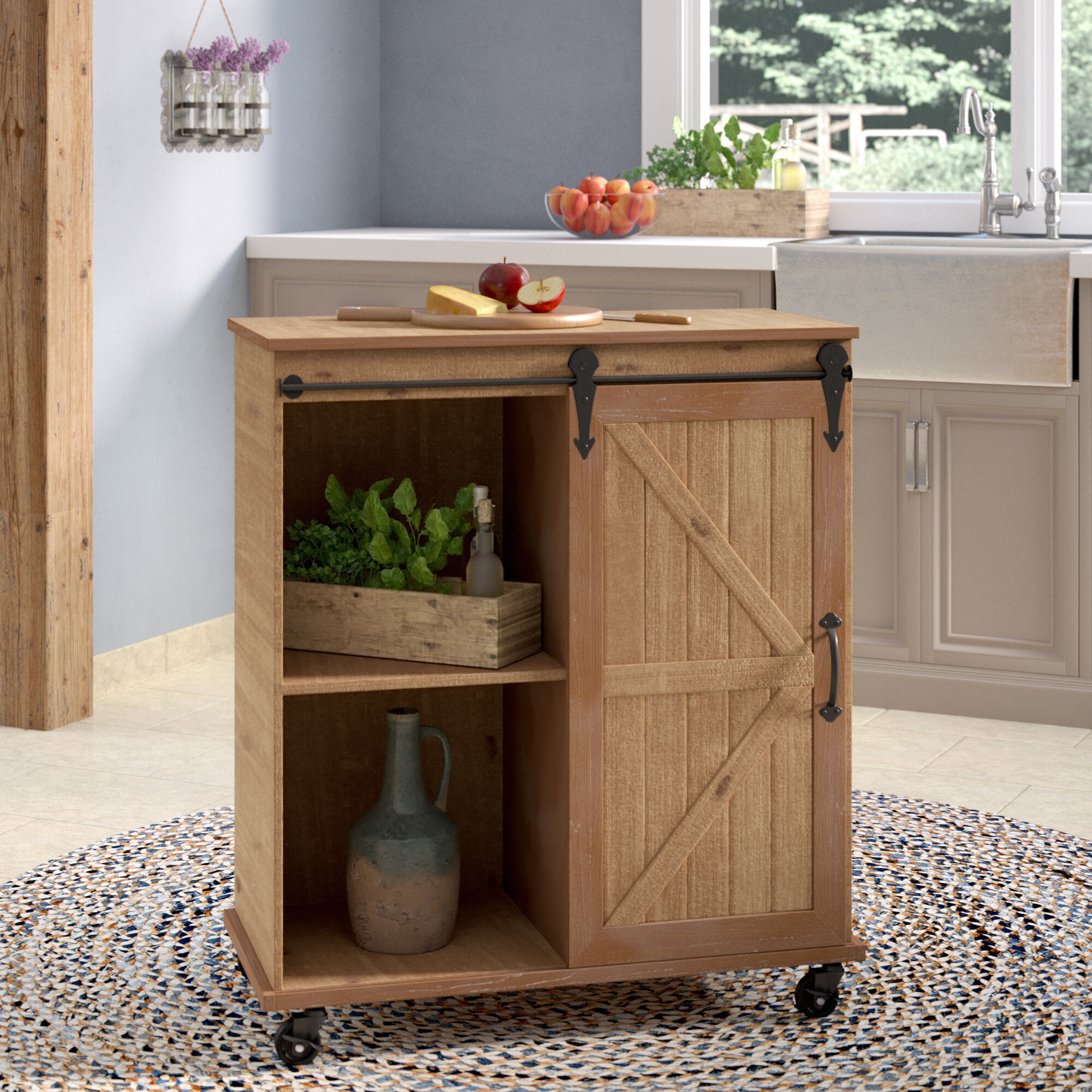 Drawer And Shelves Towel Bar Rolling Kitchen Cart Island With Wood Top Home Style Multi Function Kitchen Carts With Storage And Drawers Furniture Kolenik Kitchen Dining Room Furniture