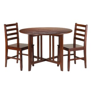 Columbia 3 Piece Drop Leaf Dining Set Red Barrel Studio