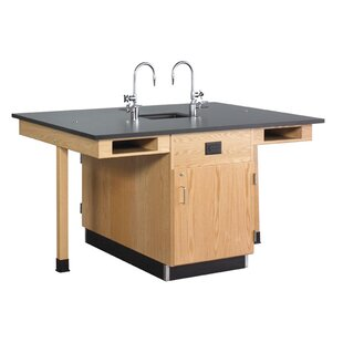 Four Station Service Center with Sink by Diversified Woodcrafts