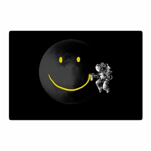 Digital Carbine Make a Smile Black/Yellow Area Rug