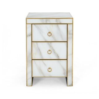 Aloysius Modern Faux 3 Drawer Accent Chest by Mercer41 SKU:AB171209 Details