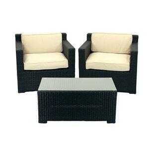 3 Piece Conversation Set with Cushions