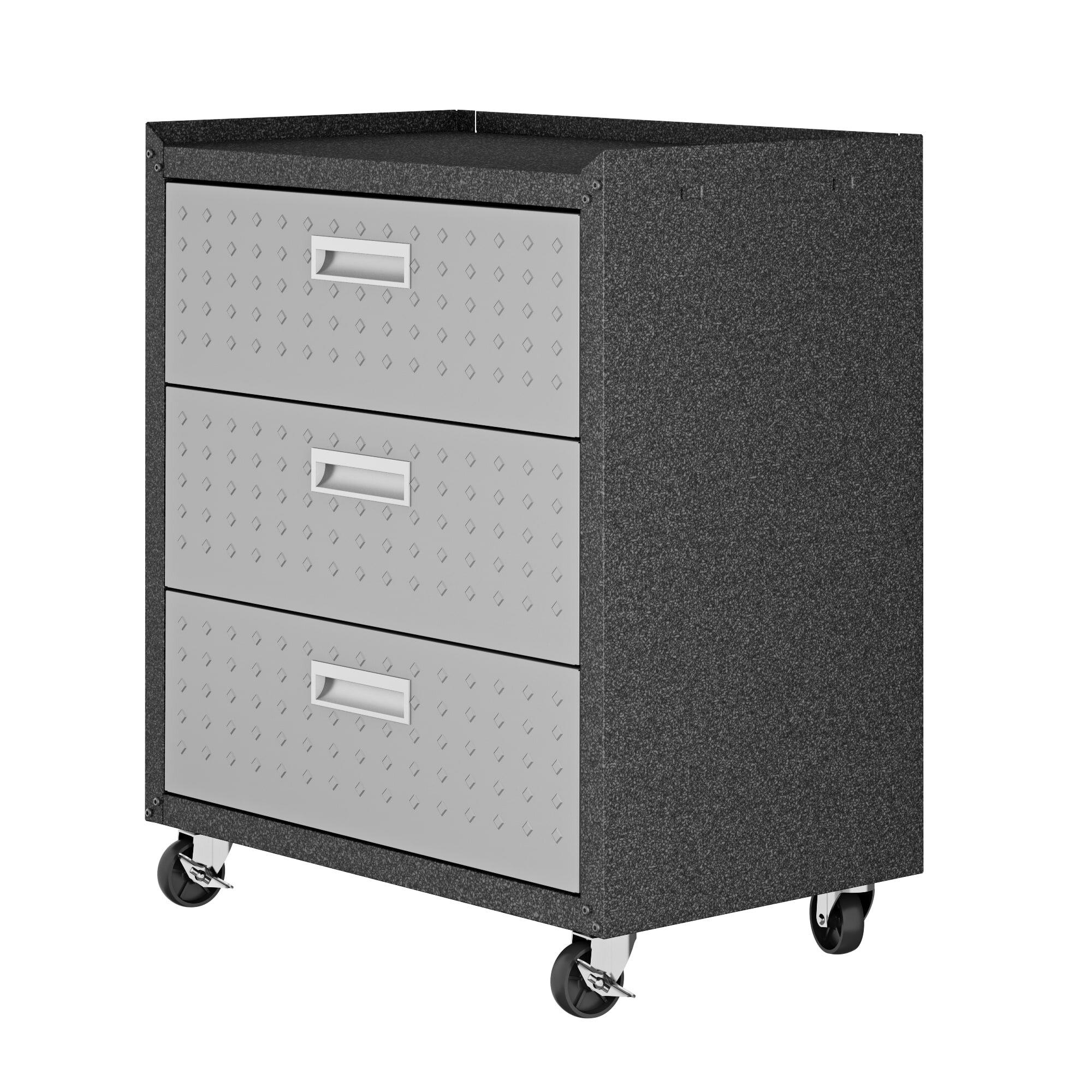 Fortress 32 H X 30 W X 18 D Garage Mobile Storage Cabinet