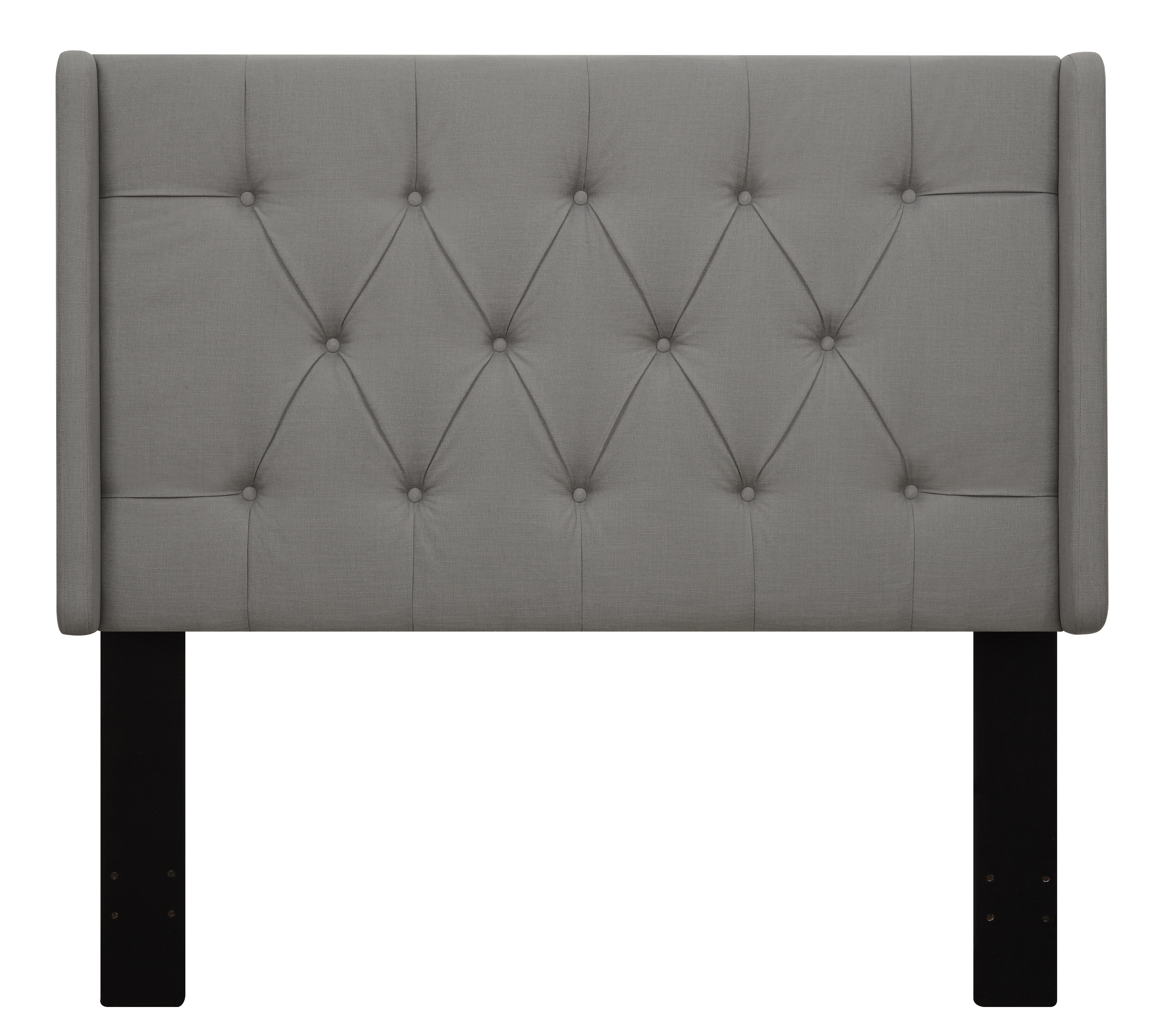 home white fabric reviews beachcrest wingback pdx wayfair furniture davina upholstered headboard