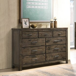Union Rustic Shockley Weathered Distressed 6 Drawer Double Dresser Image