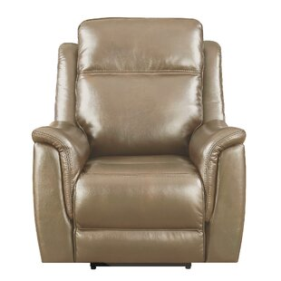 Kavanagh Leather Power Recliner by Red Barrel Studio