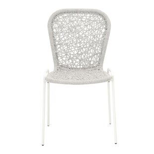 Arnoldo Intricate Rope Weave Dining Chair (Set of 4) Bungalow Rose
