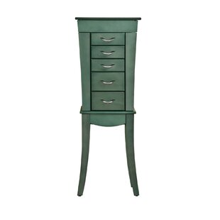 Compare prices Shellburne Free Standing Jewelry Armoire By Bay Isle Home