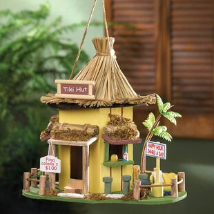 Zingz & Thingz Tiki Hut 10 in x 10 in x 9 in Birdhouse