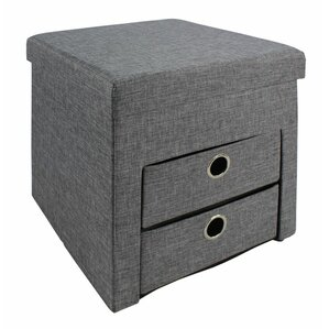 Folding Storage Ottoman by Rebrilliant