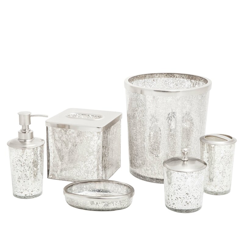paradigm trends ice 6-piece bathroom accessory set & reviews | wayfair