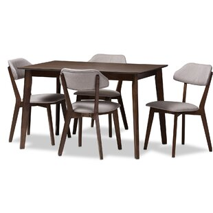 Chapdelaine Upholstered 5-Piece Dining Set by George Oliver