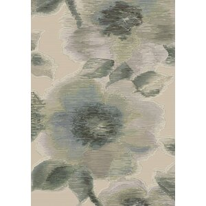 Eclipse Grey Floral Area Rug
