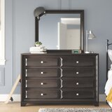 Kori 8 Drawer Double Dresser with Mirror by Grovelane