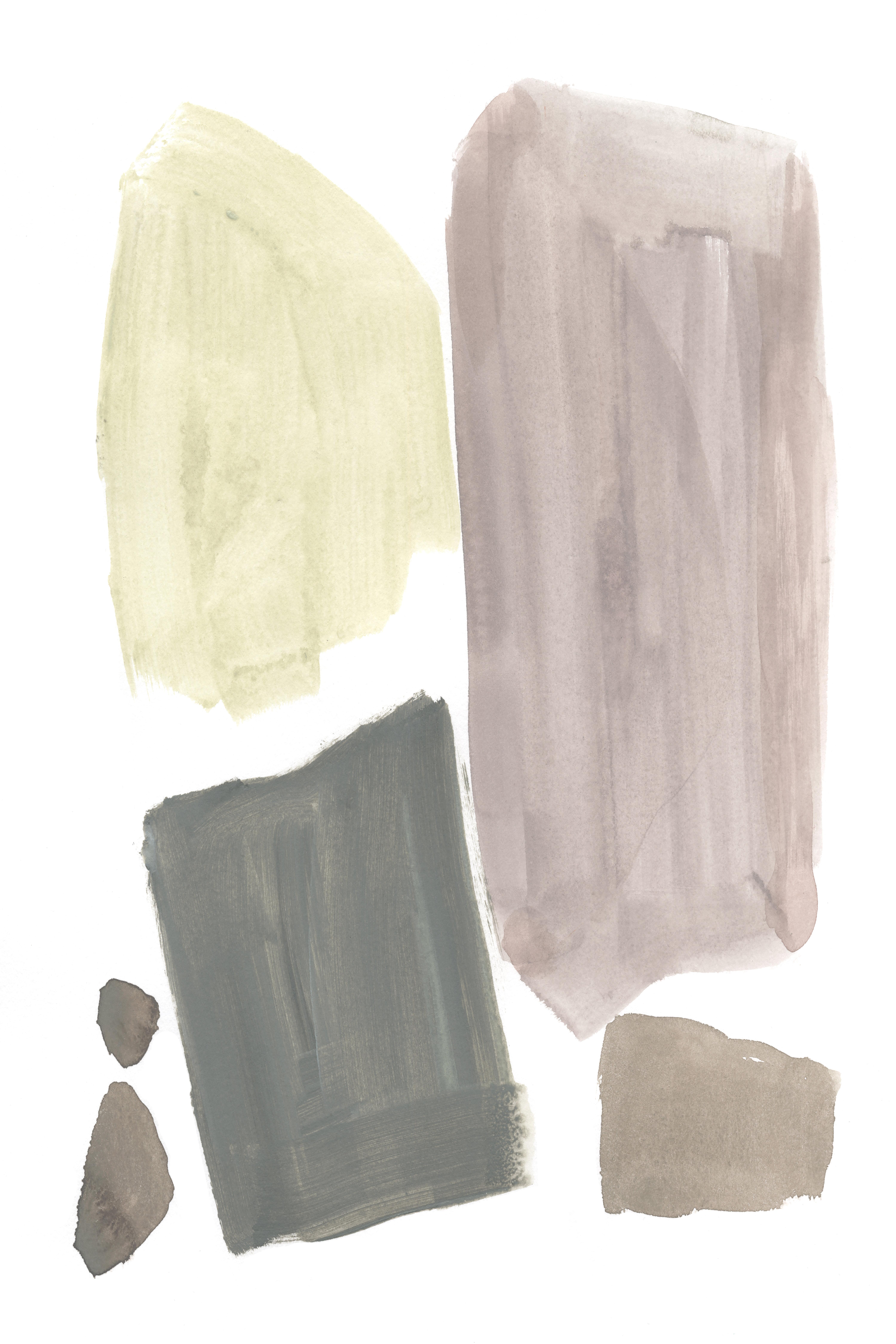 Blue Elephant Muted Mod Shapes Iv By Jennifer Goldberger Wrapped Canvas Painting Print Wayfair Co Uk