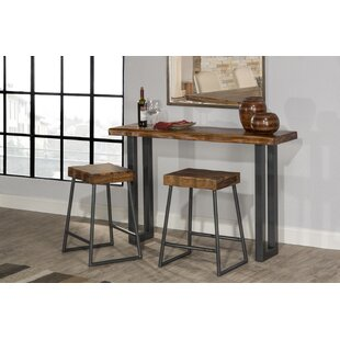 Union Rustic Linde 3 Piece Console Table ..