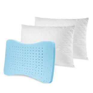 Quilted Memory Foam Standard Pillow (Set of 2)