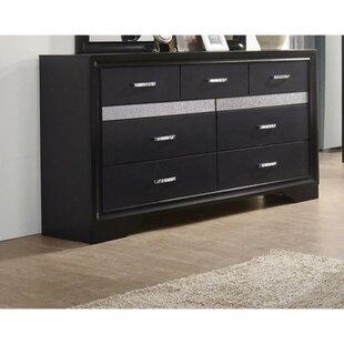 Latitude Run Whited 7 Drawers Double Dresser
