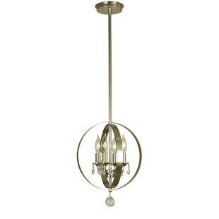 Golden 4-Light Globe Chandelier by Alcott Hill