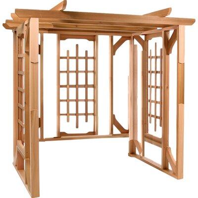 7 Ft. W x 6 Ft. D Solid Wood Pergola All Things Cedar