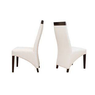 Verona Genuine Leather Upholstered Dining Chair (Set of 2)