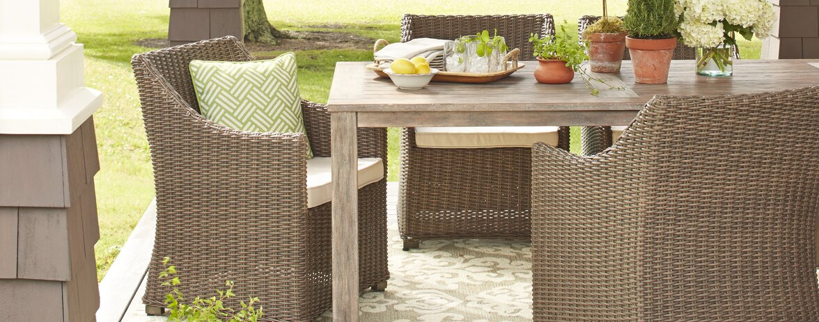 Farmhouse Rustic Outdoor Dining Bar Furniture Birch Lane