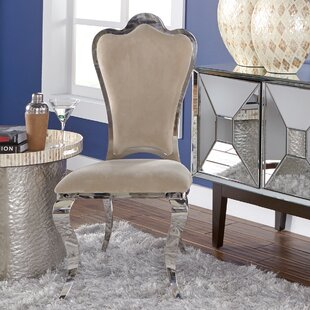 Delana Stainless Steel Side Chair (Set of 2)