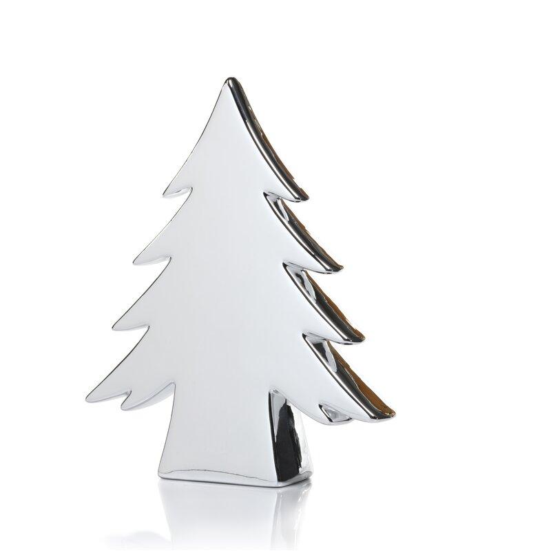 Ceramic Stemmed Christmas Tree Tabletop Decoration