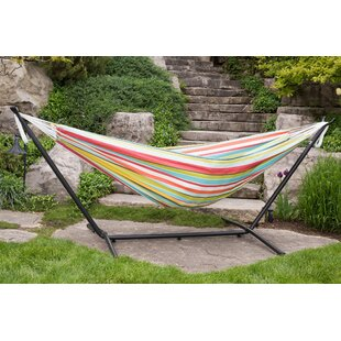 Vivere Hammocks Double Polyester Hammock with Stand