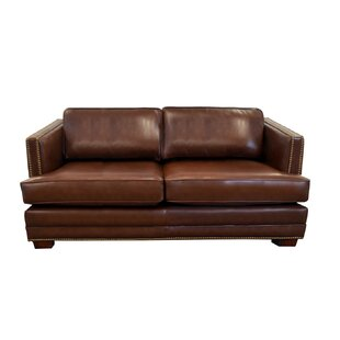Millbury Leather Loveseat by Westland and..