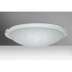 Trio 3-Light LED Outdoor Flush Mount by Besa Lighting