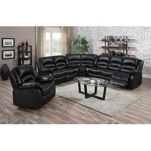 Yajaira Leather Reclining Sectional