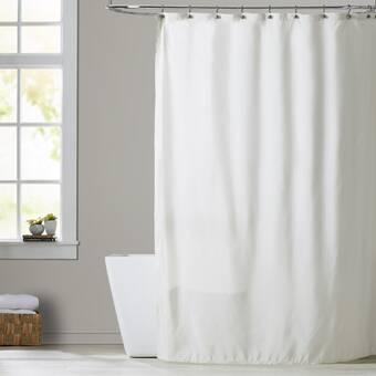 Charlton Home Rawles Microfiber Fabric Single Shower Curtain Reviews Wayfair Ca