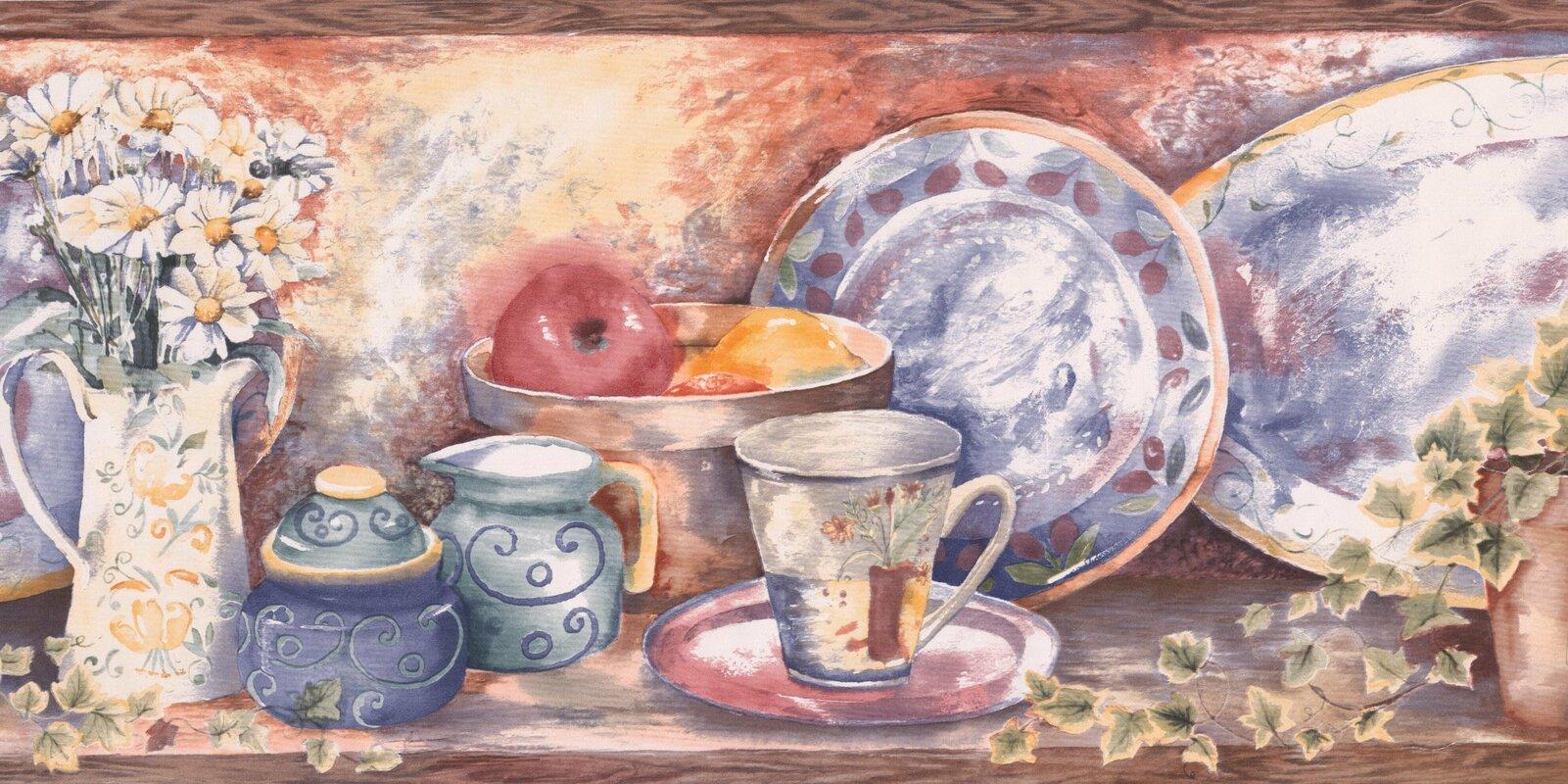 August grove bourassa paint by design vintage kitchen shelf cup bourassa paint by design vintage kitchen shelf cup jug vase plate fruit bowl 10 l reviewsmspy