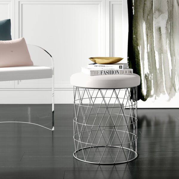 Astounding Round Accent Stool Wayfair Caraccident5 Cool Chair Designs And Ideas Caraccident5Info