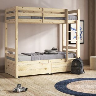 Emilio Single Bunk Bed With Drawers By Harriet Bee