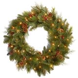 Noble Mixed 30'' Lighted Wreath