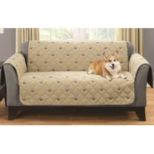Embroidered Polyeseter Loveseat Slipcover by South Bay